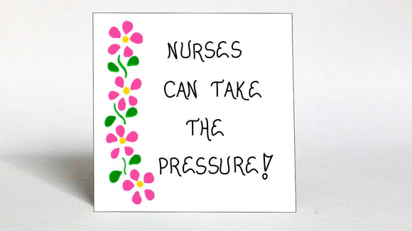 Nurses quote about nursing, medical professional occupation, Refrigerator Magnet, pink flowers