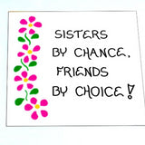quote about sisters, gift, friend, magnet
