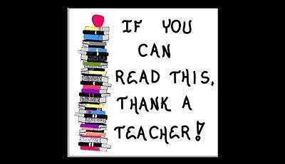 Magnet - Teacher Quote of thanks, learn to read, reading instructor, tutor