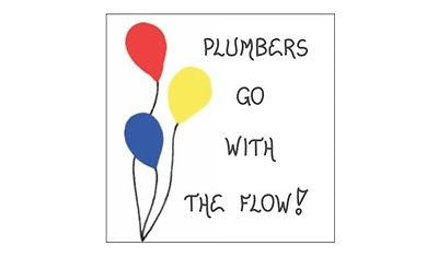 Plumber Magnet - Humorous plumbing quote - Red, Yellow, Blue Balloons