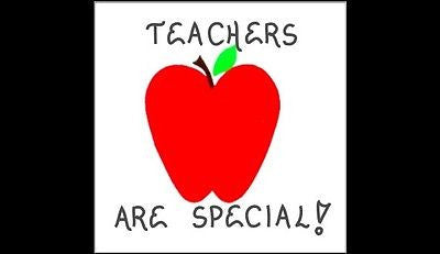 Teacher  Magnet Quote, Instructor, teaching, red apple design