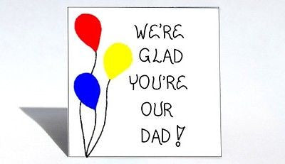 Magnet for Dad, Quote - Father, Daddy, Papa, Red, yellow, blue balloons