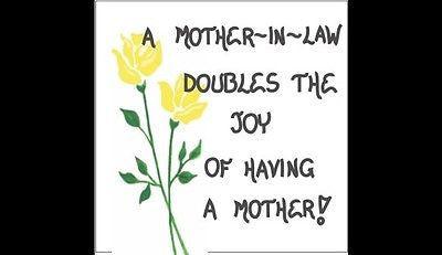 Mother-in-Law Magnet - Quote - mom of spouse, wife, husband parent,Yellow flower
