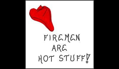 Humorous firefighter quote about Firemen Firefighter Gift Magnet - Red firehat