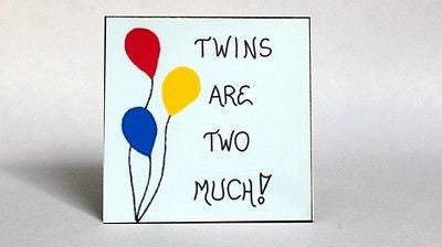 Quote about Twins - Refrigerator Magnet, multiple births, double siblings
