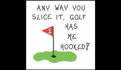Golfer Gift - Magnet - About Golf, humorous golfing quote, putting green, red flag