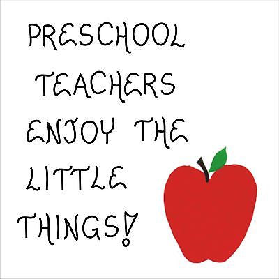 Preschool Teacher, Quote, Magnet, Pre-K, nursery school educators, red apple