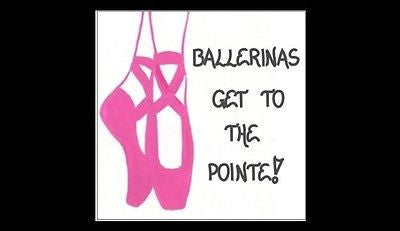 Magnet - Ballerina - Ballet, quote, dance, dancer, dancing saying, pink toe shoes