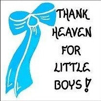 Baby Boy Refrigerator Magnet Quote - infants, babies, blue bow design