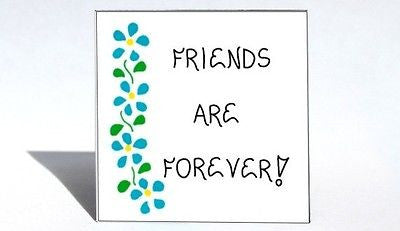 Friendship Magnet, Quote, forever friends, best buddies, BFF, blue flower origin