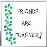 Friends Magnet, Quote, forever pals, best buddies, BFF, blue flowers