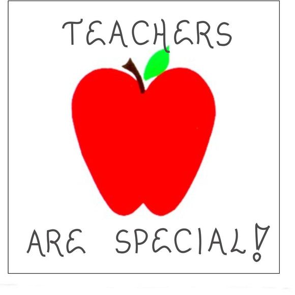Magnet Quote, Teacher, teaches, teaching, caring - red apple design