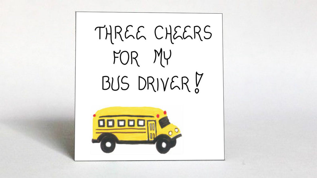 Thank you Bus Driver Magnet -Schoolbus quote, appreciation, thanks, yellow and black vehicle