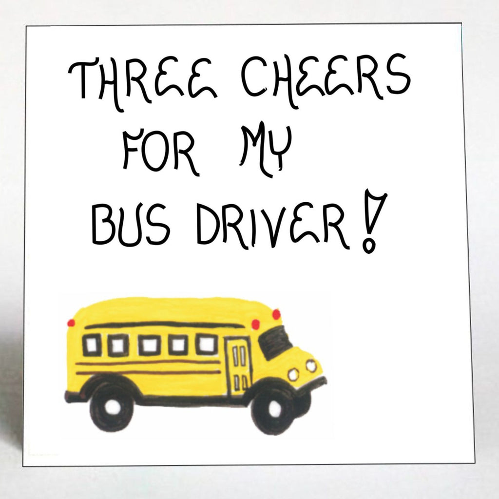 Bus Driver Gift Magnet -Yellow Schoolbus quote of appreciation