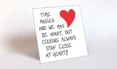 cousin magnet quote best friends family relatives the