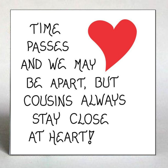 Close Cousins Gift Magnet