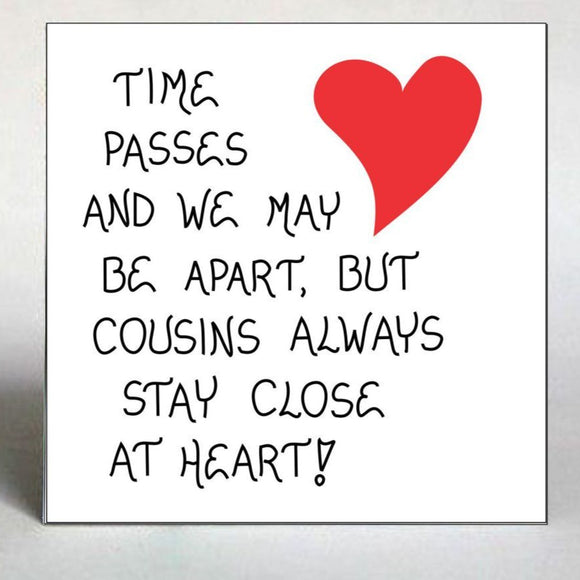 Gift magnet for cousin - Quote