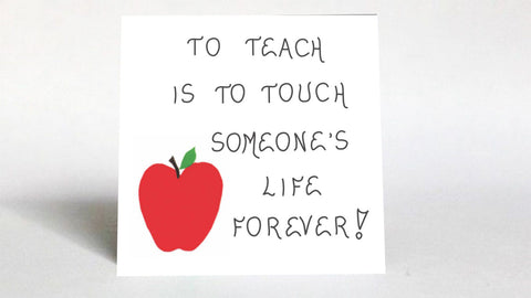 Teacher Quote Magnet - Teaching, inspirational saying, education profession