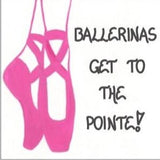 Ballerina quote magnet