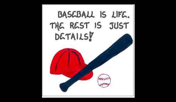 quote about baseball - refrigerator magnet