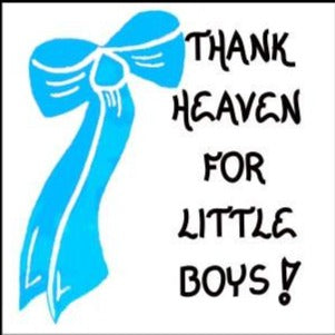 quote about little boys - refrigerator magnet