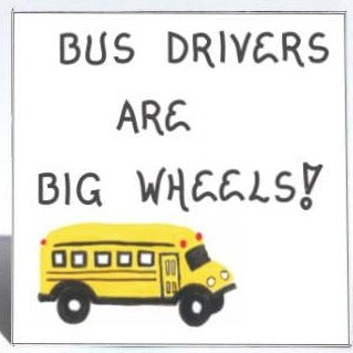 Gift for bus driver - End of school year - Magnet