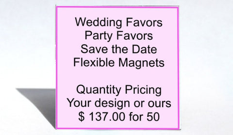 Wedding Favors, Party Favors, Save the Date Magnets