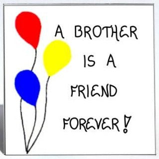 Quote about brother, sibling, magnet