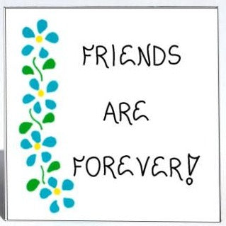 quote about friends - refrigerator magnet