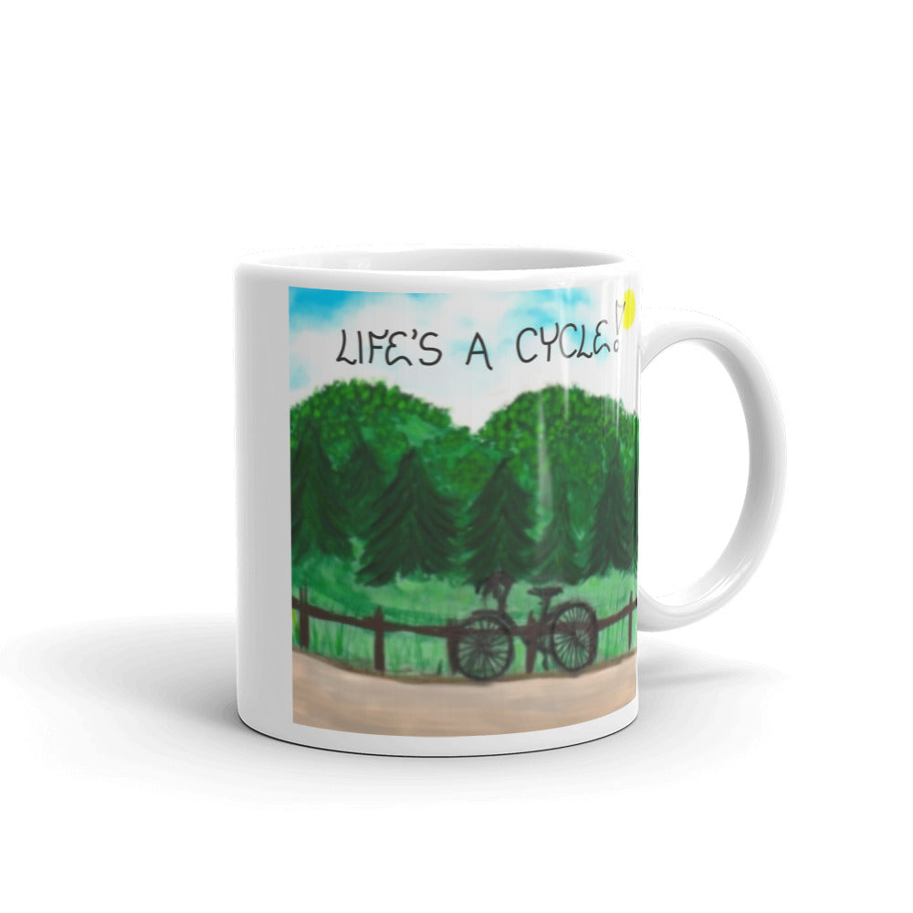 Quote about cycling, bicycle, mug