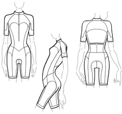 Illustration of a cycling suit for women or skinsuit