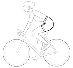 Illustration of padded cycling shorts or hotpants