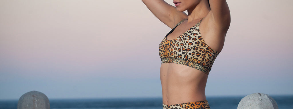 Sports Bra Tops with a touch of leopard
