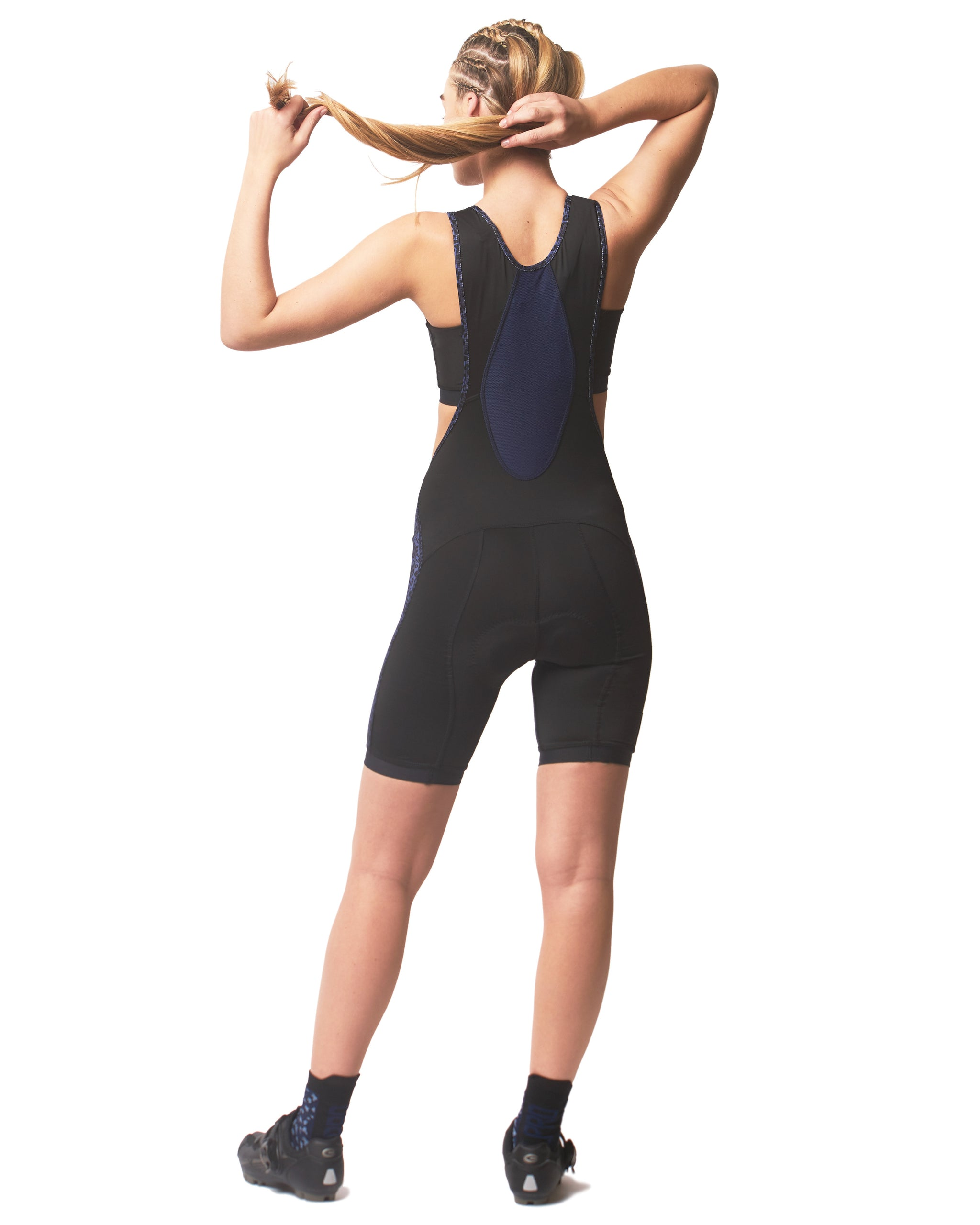 LPRD Cycling Bib Shorts Midnight Leopard | Back View