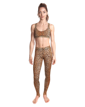 LPRD Leopard Crop Top | Front View Close-Up