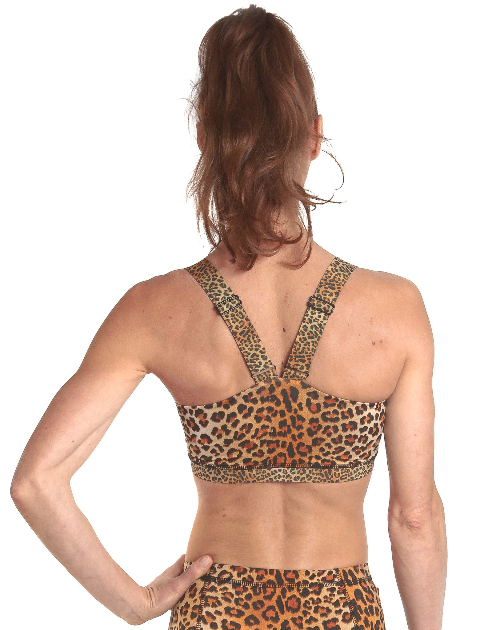 LPRD Leopard Crop Top | Close-Up Back View
