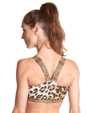 LPRD Leopard Large Crop Top | Front View Close-up