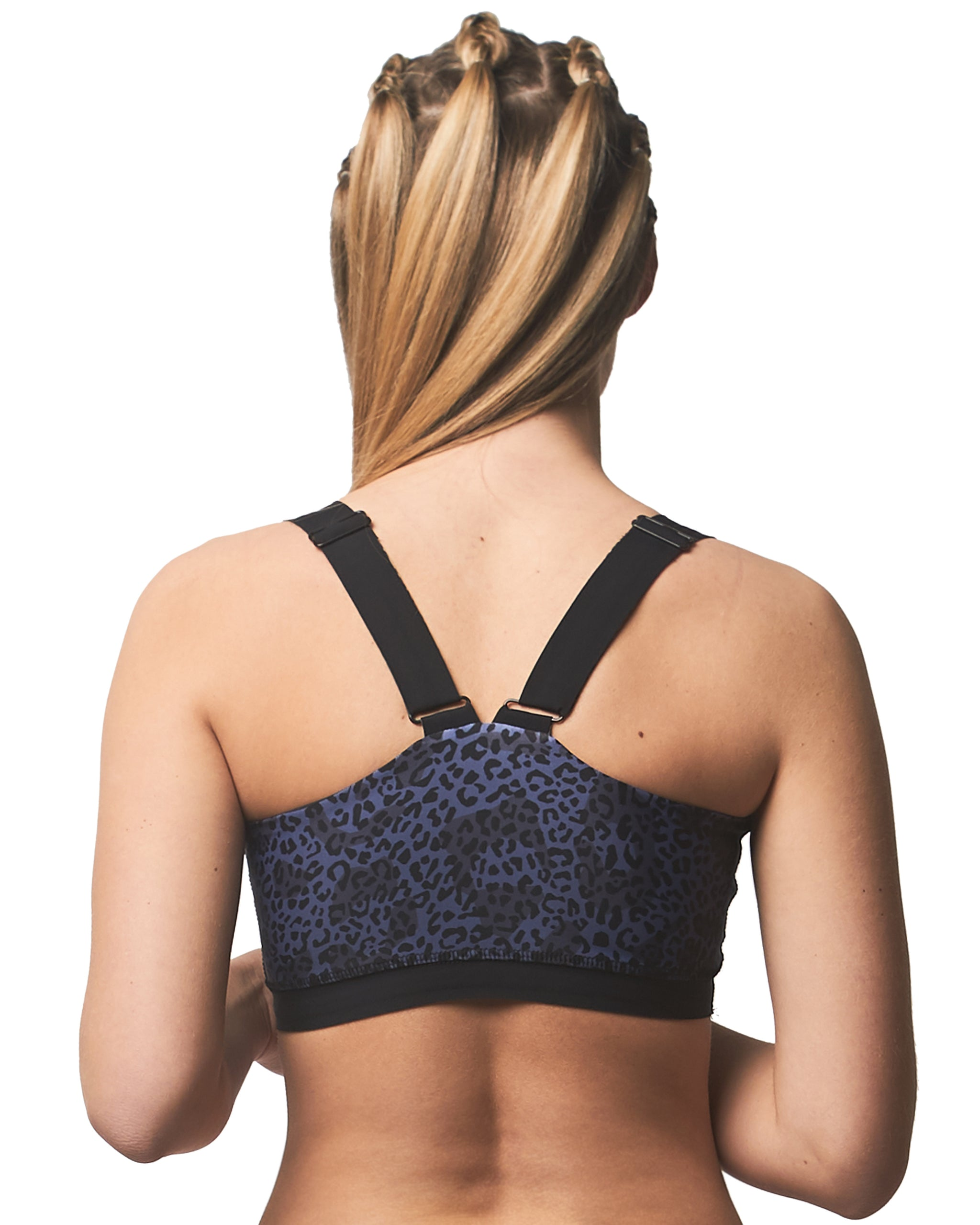 LPRD Midnight Leopard Print Croptop | Back View