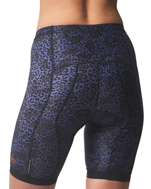 LPRD Midnight Leopard Cycling Shorts | Front View Close