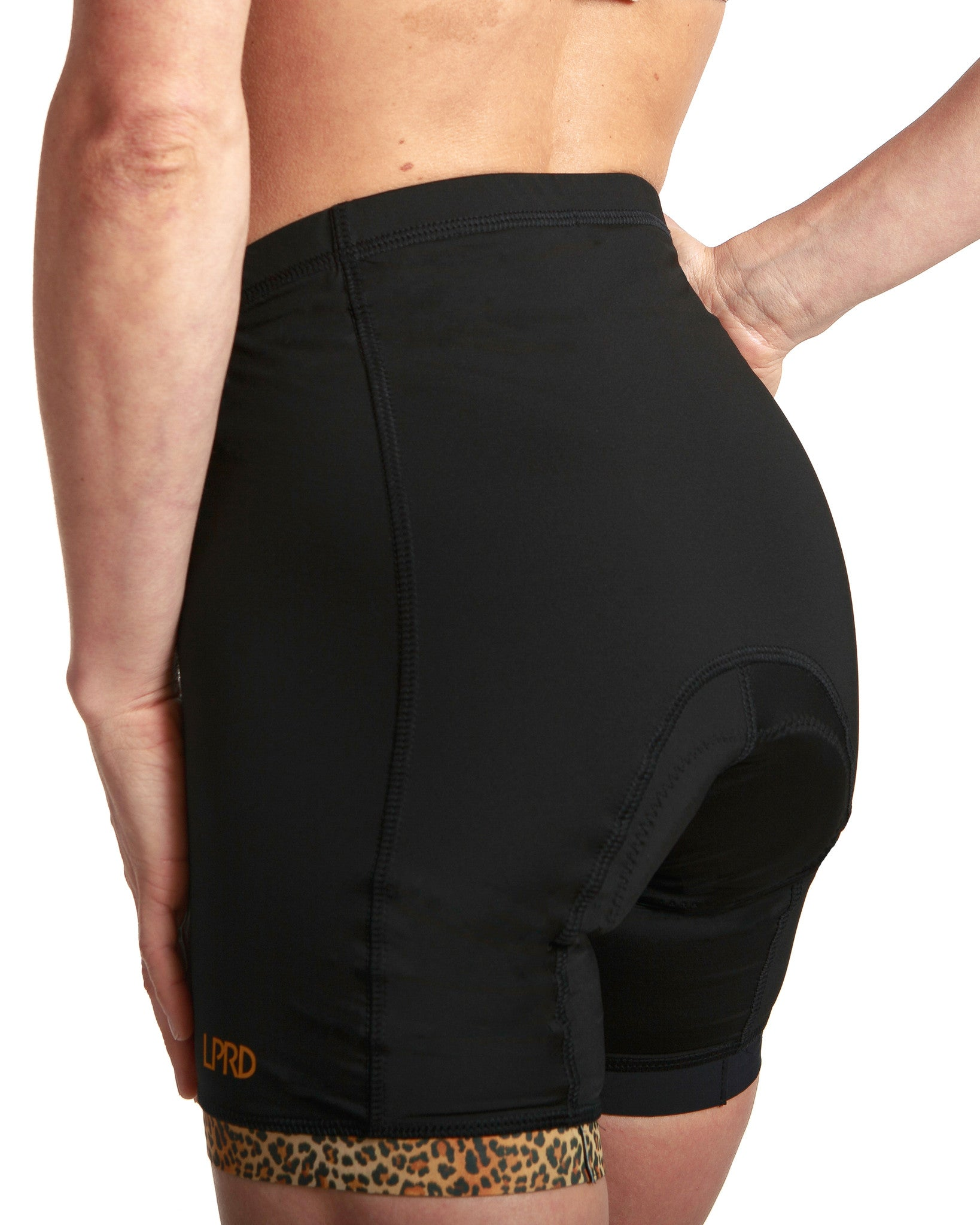 LPRD Black Cycling Shorts | Close-up Back View