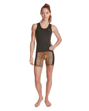 LPRD Leopard Centre Cycling Shorts | Front View Close