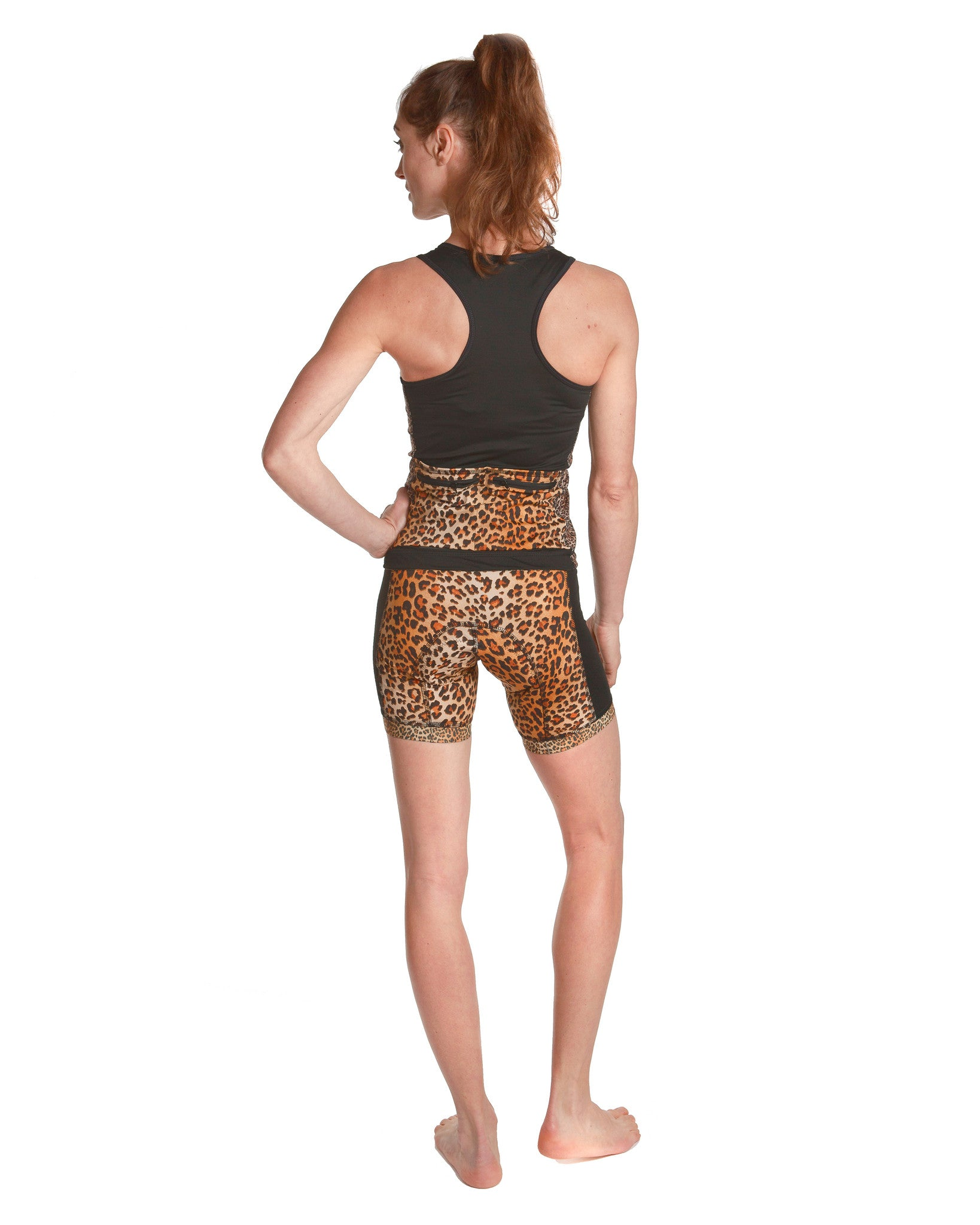LPRD Leopard Centre Cycling Shorts | Back View