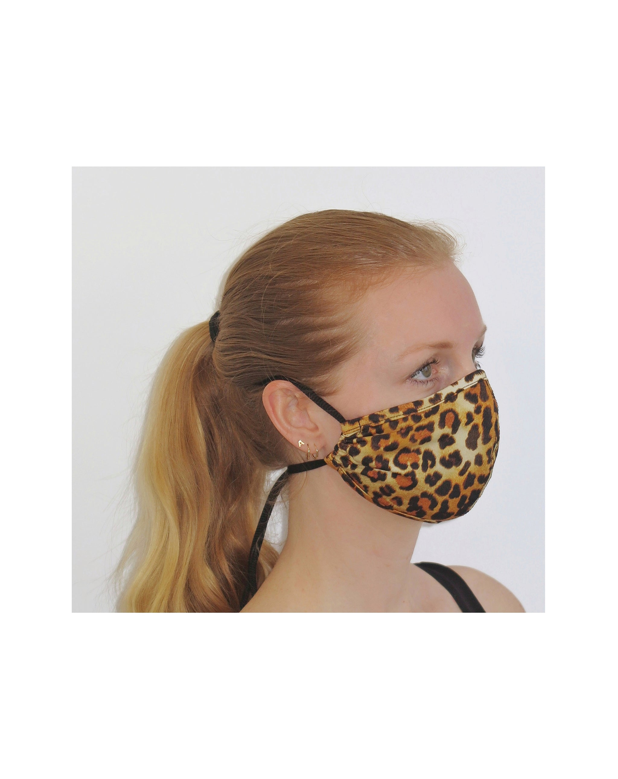 Face Mask with leopard print