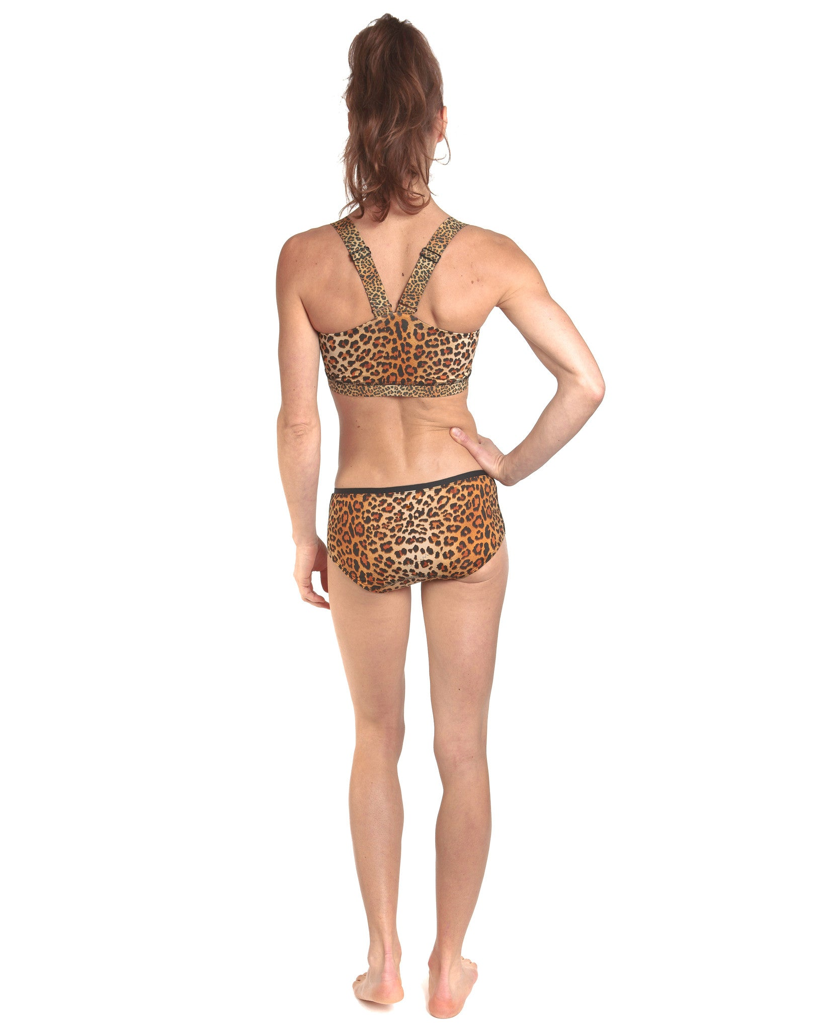 LPRD Leopard Cycling Hipster Undies | Back View