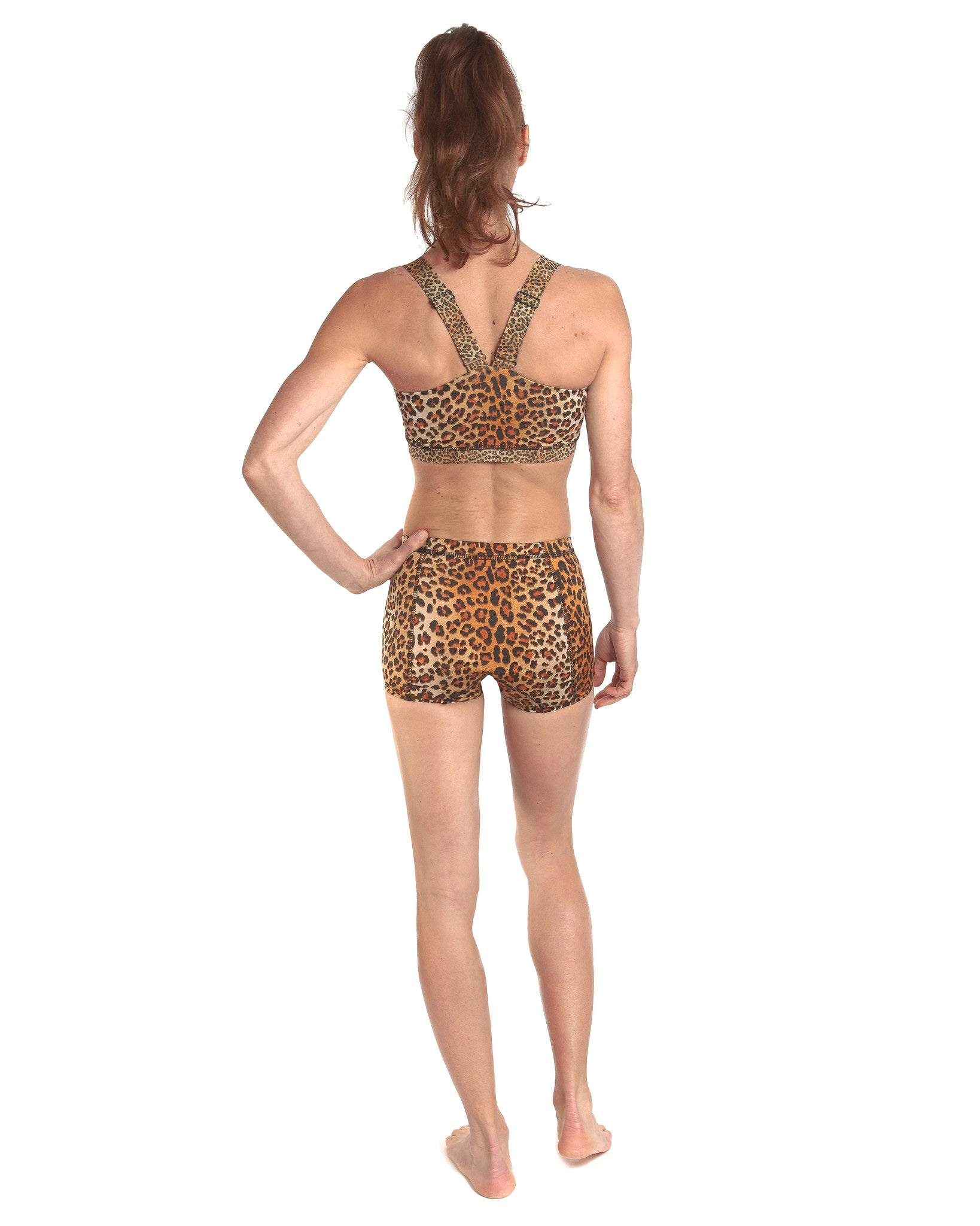 LPRD Leopard Cycling Hotpants | Back View