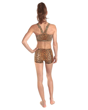LPRD Leopard Cycling Hotpants | Front View Close
