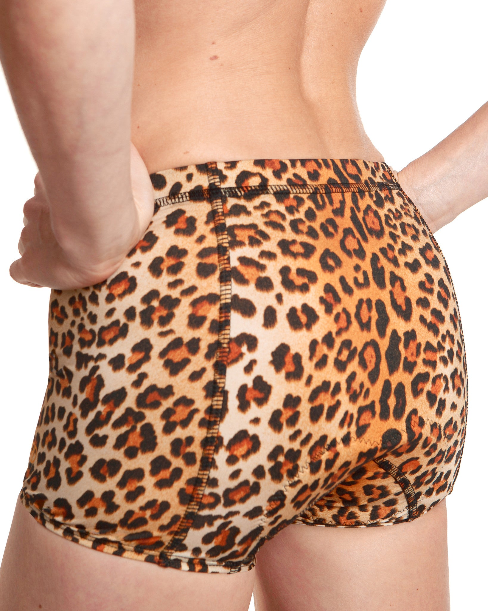 LPRD Leopard Cycling Hotpants | Close-up Back View Detail