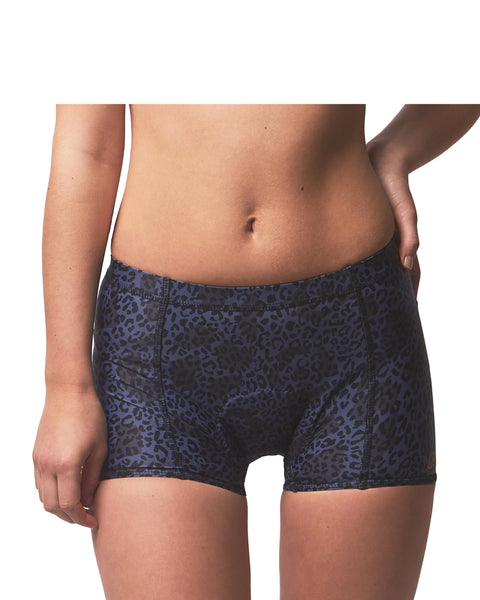 LPRD Midnight Leopard Cycling Hotpants | Front View Close
