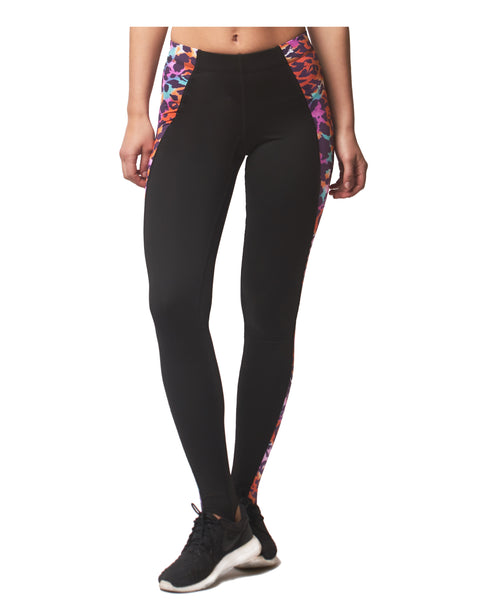 LPRD Pink Leopard Panel Leggings | Front View Close