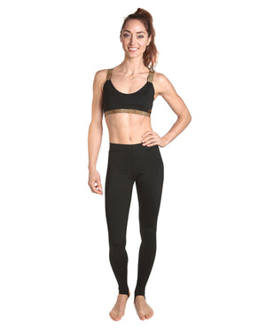 LPRD Black Leggings | Front View Close